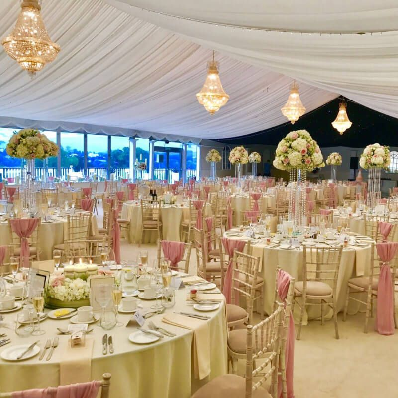 Wedding Breakfast in Garden Pavilion 1